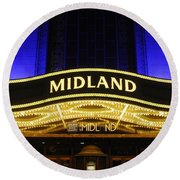 Midland Theater Round Beach Towel
