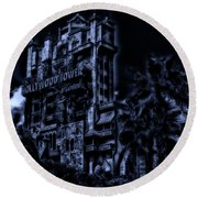 Midnight At The Tower Of Terror Mp Round Beach Towel