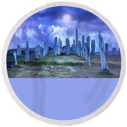 Midnight Circle Round Beach Towel