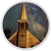 Round Beach Towel featuring the photograph Midnight Grove by Darren White