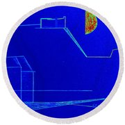 Midnight In Les Baux Round Beach Towel