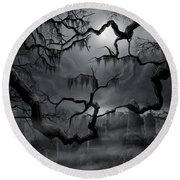 Midnight In The Graveyard II Round Beach Towel