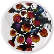 Midnight Magiic Bloom-1 Round Beach Towel by Alika Kumar