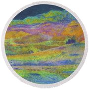 Midnight Magic Dream Round Beach Towel