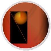 Midnight Orange Round Beach Towel by John Krakora