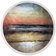 Midnight Sands Gloucester Round Beach Towel