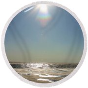 Midnight Sun Over The Arctic Round Beach Towel