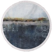 Midnight Whispers Round Beach Towel by Nicole Nadeau