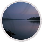 Midnite Blue Round Beach Towel