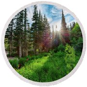 Midsummer Dream Round Beach Towel