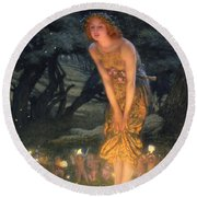 Midsummer Eve Round Beach Towel by Edward Robert Hughes
