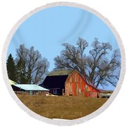 Midwest Farm Round Beach Towel