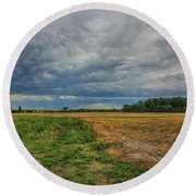 Midwest Weather Round Beach Towel