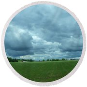 Midwestern Sky Round Beach Towel