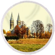 Miedzierza Church Round Beach Towel