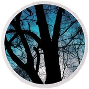 Might Oak 16x20 Round Beach Towel