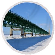 Mighty Mac On Ice Round Beach Towel