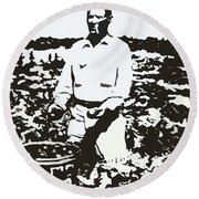 Migrant Farmer Round Beach Towel