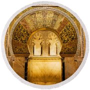 Mihrab In The Great Mosque Of Cordoba Round Beach Towel
