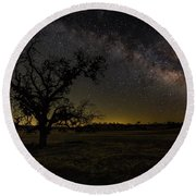 Miily Way In A Late Spring Sky Round Beach Towel