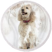 Mike And Millie 100 Round Beach Towel by M K  Miller