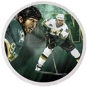 Mike Modano Round Beach Towel