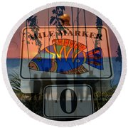 Round Beach Towel featuring the photograph Mile Marker 0 Sunset by David Lee Thompson
