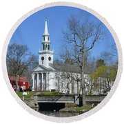Milford Congregational Church Round Beach Towel