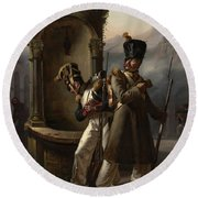 Military Event From Napoleon's First Spanish Campaign Round Beach Towel