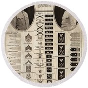 Round Beach Towel featuring the photograph Military Rank Identification 1917 by Daniel Hagerman