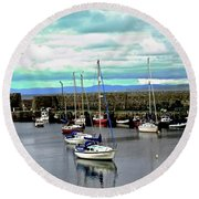 Milk Harbour Round Beach Towel