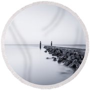 Milky Sea Round Beach Towel