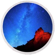 Milky Way And Caprock Round Beach Towel