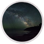 Milky Way Arch Round Beach Towel