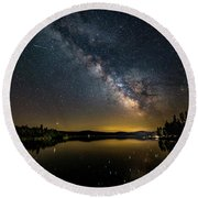 Milky Way At Hunter Cover Round Beach Towel