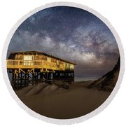 Milky Way Beach House Round Beach Towel