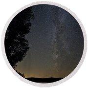 Milky Way Chocorua Lake Round Beach Towel
