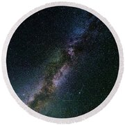 Round Beach Towel featuring the photograph Milky Way Core by Bryan Carter