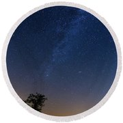Round Beach Towel featuring the photograph Milky Way by Davor Zerjav