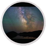 Milky Way Eagle Lake Round Beach Towel