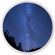 Milky Way Galaxy Round Beach Towel