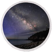 Milky Way Over Boulder Beach Round Beach Towel