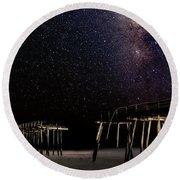 Milky Way Over Frisco Round Beach Towel
