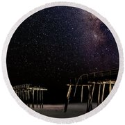 Milky Way Over Frisco Round Beach Towel