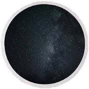 Milky Way Over Poipu Beach Round Beach Towel