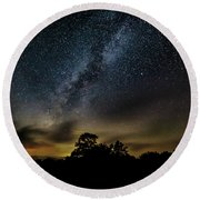 Milky Way Over The Blue Ridge Round Beach Towel
