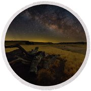 Milky Way Over The Canyon  Ranch Round Beach Towel