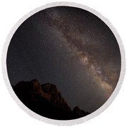 Milky Way Over Zion Round Beach Towel