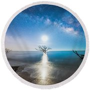 Milky Way Shore Round Beach Towel