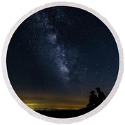 Milky Way Viewed From Rough Ridge Round Beach Towel